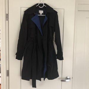 Club Monaco Navy Trench Coat Size M New